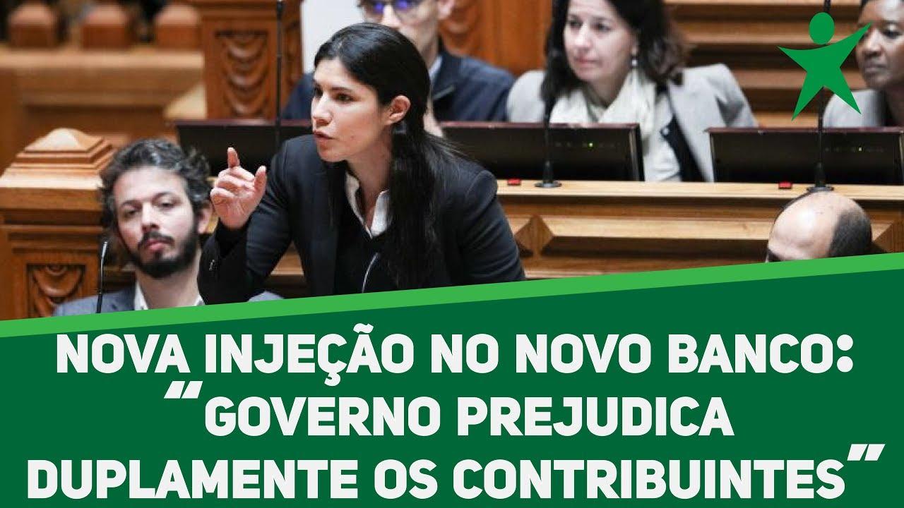 """""""Nova injeção no Novo Banco prejudica duplamente os contribuintes"""""""